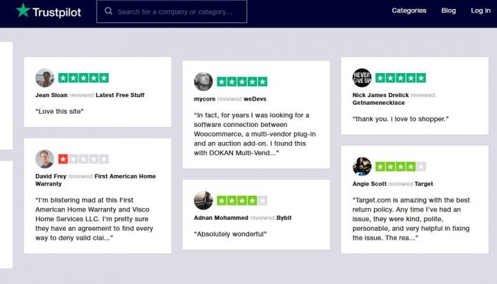 Trustpilot Online Reviews